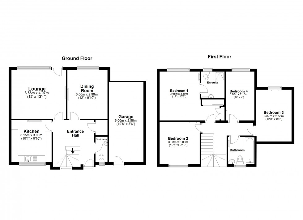 Floorplan for Six Mile Bottom, Newmarket, Suffolk